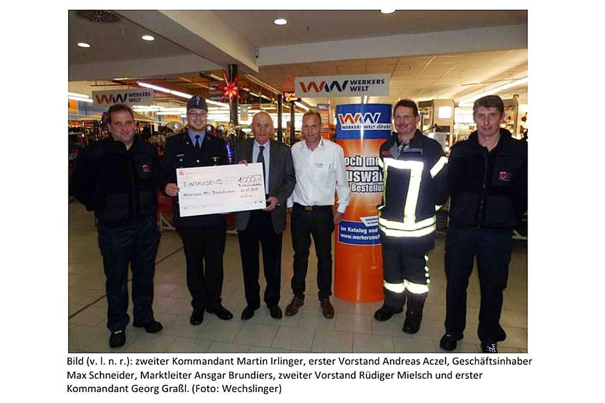 2015 Spende an die Feuerwehr Bischofswiesen